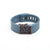 Blue Fitbit Charge with Bytten Positive Charge slide - antique steel