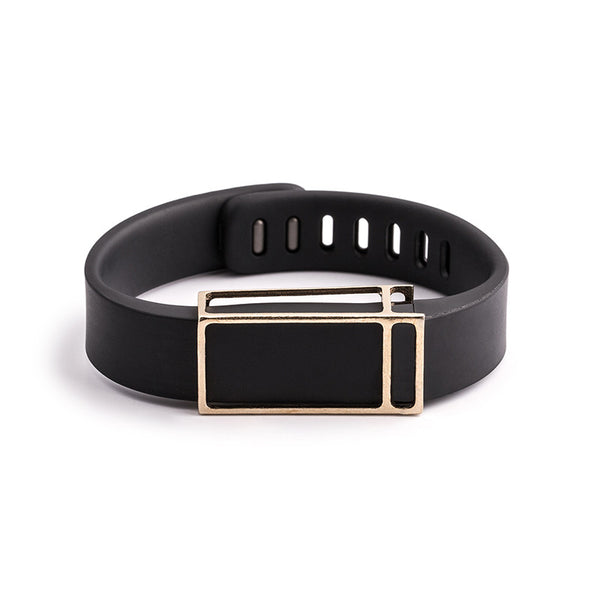 Fitbit Flex with Bytten slide - rustic brass James slide sample