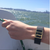 Fitbit Charge on boat with Bytten Lucas slide accessory - polished brass