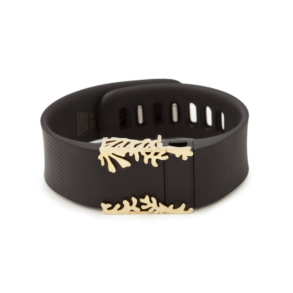 Fitbit Charge with Bytten Matisse Cuff - polished brass