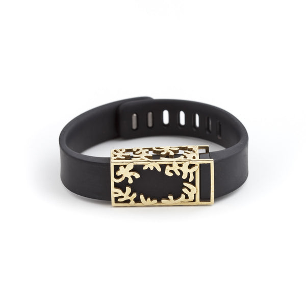 Fitbit Flex with Bytten slide - brass Matisse slide sample