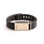 Fitbit Flex with Bytten Custom™ Rasa slide and engraved MJH monogram - rustic brass