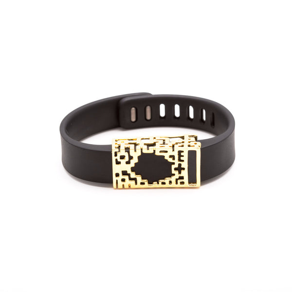 Fitbit Flex with Bytten slide - 18k gold Lucas slide sample