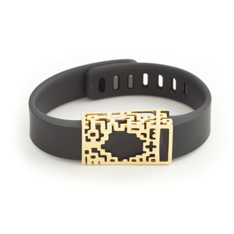 Fitbit Flex with Bytten Lucas slide - 18K gold
