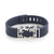 Navy Fitbit Flex with Bytten Matisse slide - sterling silver