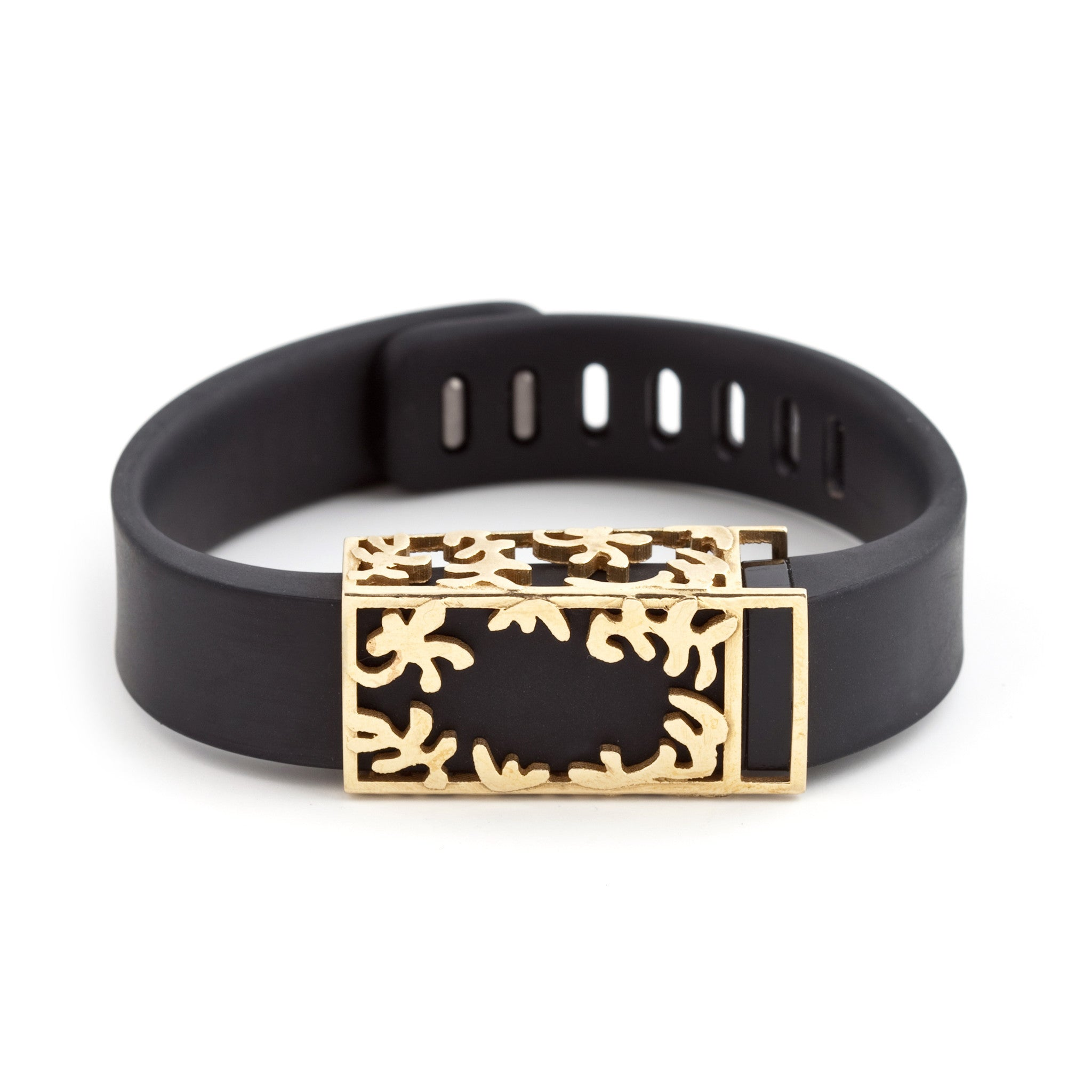 Fitbit Flex with Bytten Matisse slide - polished brass