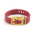Red Fitbit Flex with Bytten Matisse slide - gold steel