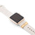 Gold Apple Watch Sport on antique white band with Bytten Glam Stack - gold