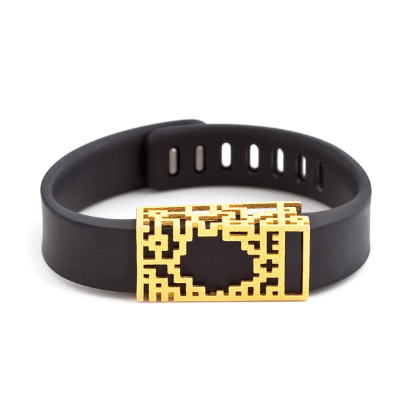 Fitbit Flex with Bytten Lucas slide - gold steel