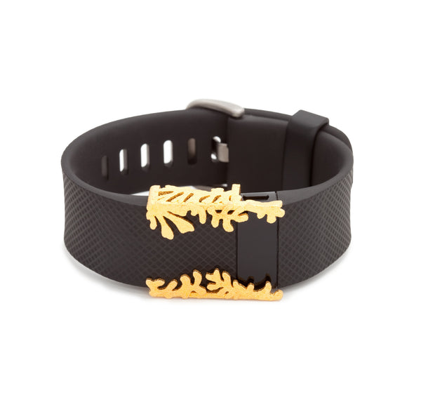Fitbit Charge with Bytten Matisse Cuff - gold steel