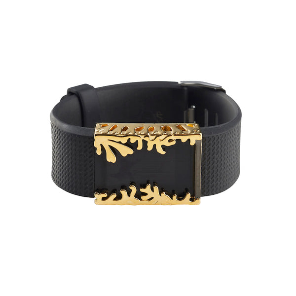 Fitbit Charge 2 with Bytten Matisse Cuff accessory - polished gold