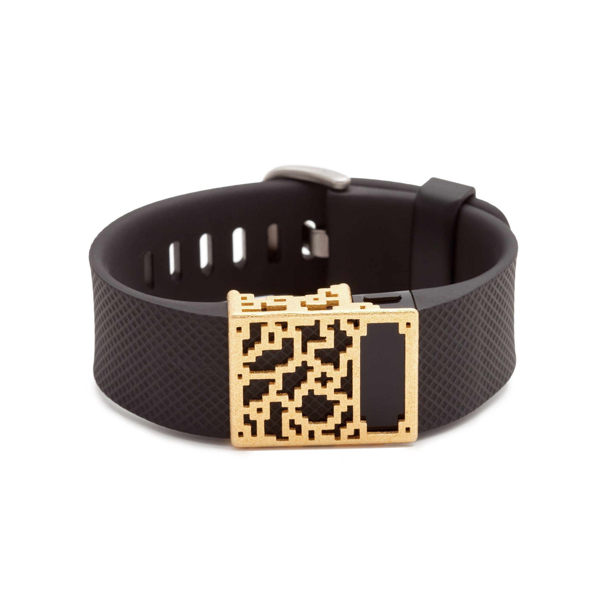Fitbit Charge with Bytten Positive Charge slide - gold steel