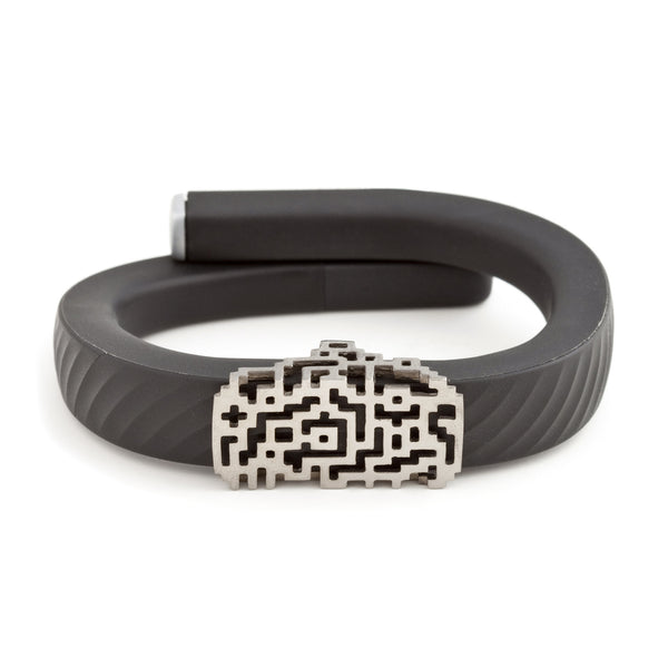 Jawbone UP with Bytten Lucas slide in black rhodium - smokey grey