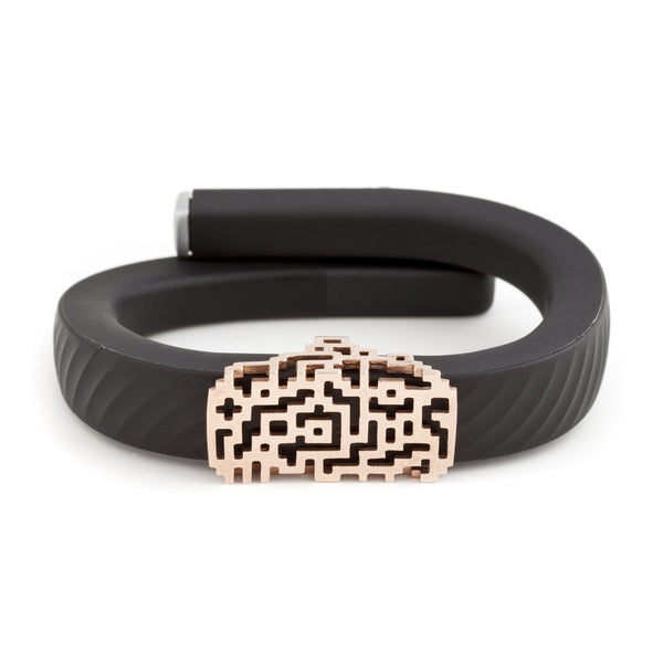 Jawbone UP with Bytten Lucas slide - rose gold
