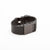 Side view of Fitbit Charge HR with engravable Bytten Custom™ Rasa slide  - black steel