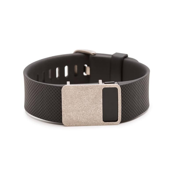 Fitbit Charge HR with Bytten Rasa sample - nickel steel
