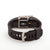 Rear view Fitbit Charge HR with Bytten Matisse Cuff - nickel steel