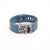 Blue Fitbit Charge with Bytten Matisse slide - nickel steel