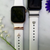 Bytten pave heart Studs for Apple Watch on white Sport band