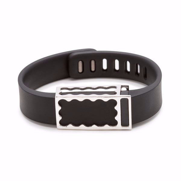 Fitbit Flex with Bytten Chloe slide - sterling silver