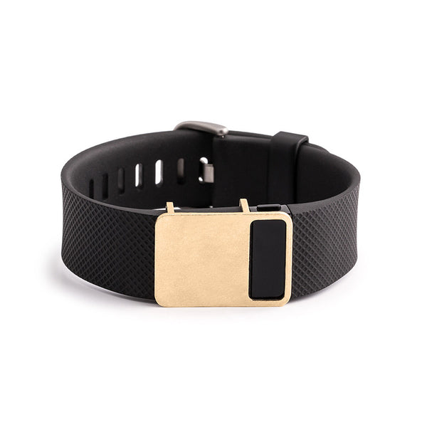 Fitbit Charge HR with Bytten Rasa sample - raw brass
