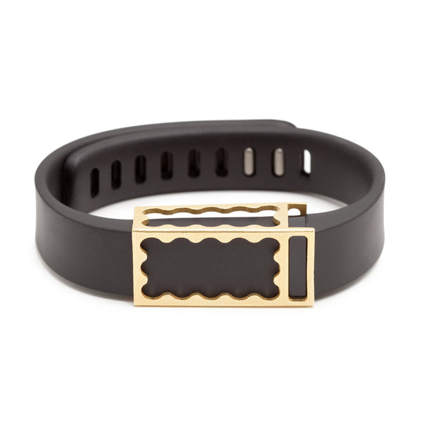Fitbit Flex with Bytten Chloe slide - brass