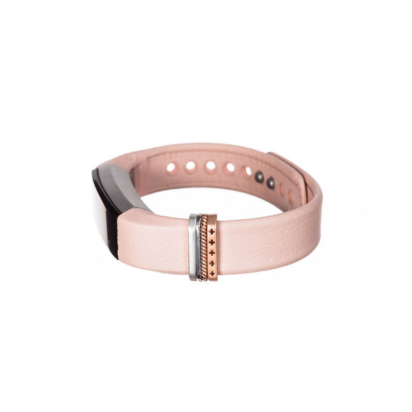 Fitbit Alta with Bytten Classic Stack accessory - rose gold