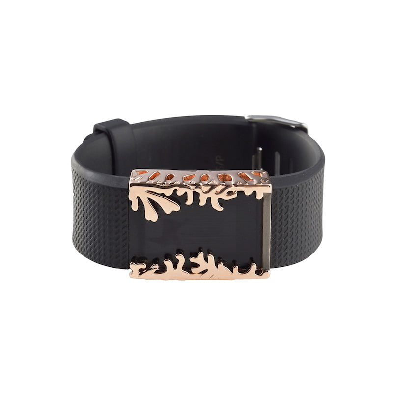 Fitbit Charge 2 with Bytten Matisse Cuff accessory - polished rose gold