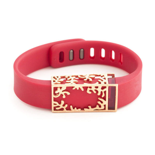 Fitbit Flex with Bytten slide - rose gold Matisse slide sample