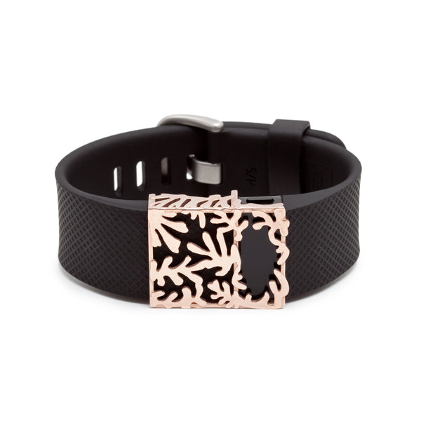Fitbit Charge with Bytten Matisse slide - rose gold