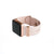 Rose Gold Apple Watch with Bytten mini Glam Stack on pink band - rosiest gold