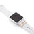 Silver Apple Watch Sport on white band with Bytten Glam Stack - silver
