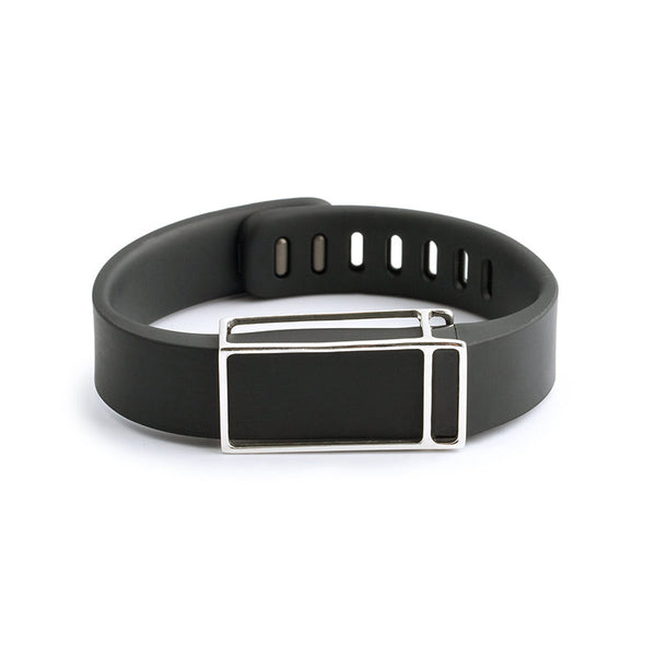 Fitbit Flex with Bytten slide - sterling silver James slide sample