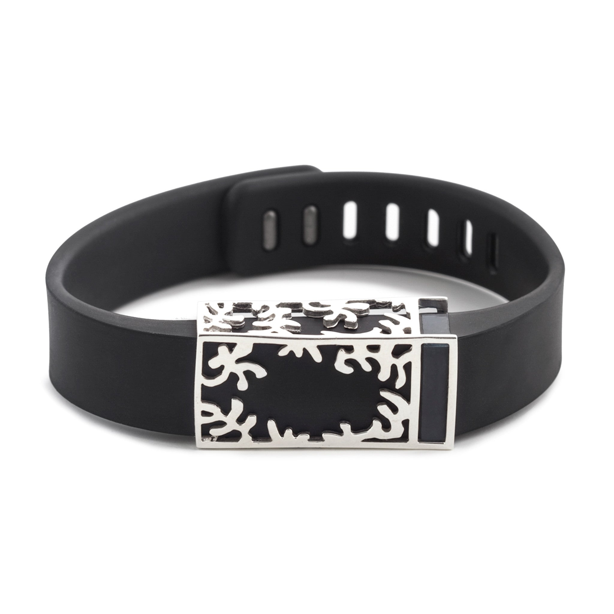 Fitbit Flex with Bytten Matisse slide - sterling silver
