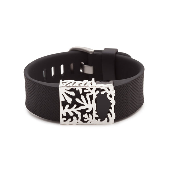 Fitbit Charge with Bytten Matisse slide - sterling silver