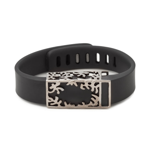 Fitbit Flex with Bytten Matisse slide in black ruthenium - smokey grey