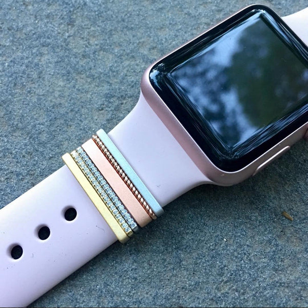 Bytten Ultimate Stack on a pink sand Apple Watch band