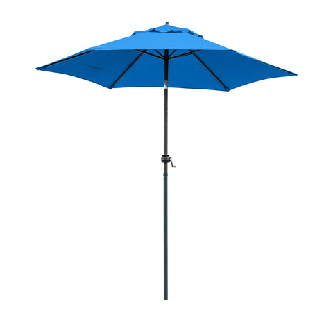 9ft Outdoor Patio Umbrella with Steel Pole, Push Button Tilt & Crank