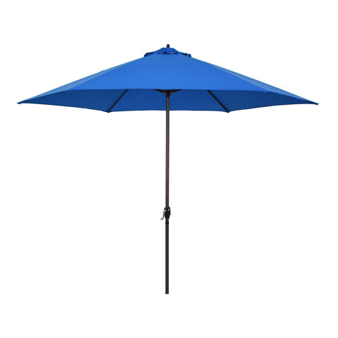 11ft Aluminum Market Crank Lift Patio Umbrella