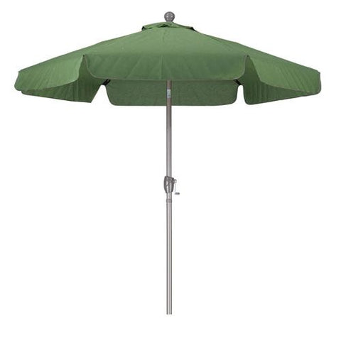 7.5ft Aluminum Pole, 3-Way Push Tilt, Beach Style Valence Trim Patio Umbrella
