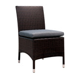 Contemporary Wicker Patio Side Chairs (Set of 2)