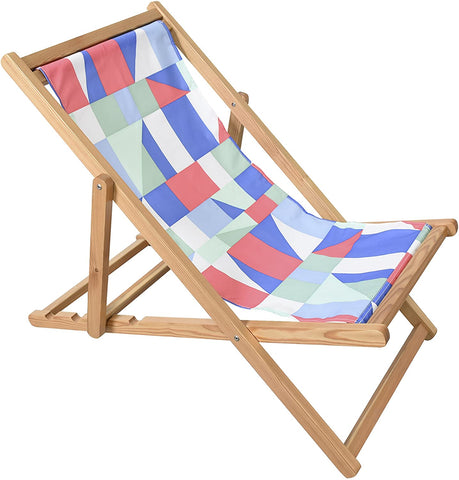 Adjustable Wooden Cabana Beach Chair