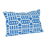 Roland Blue Lumbar Outdoor Accent Throw Pillow