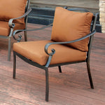 Contemporary Padded Patio Arm Chair