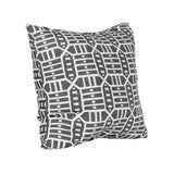 Square Outdoor Accent Lounge Throw Pillow - Roland Charcoal