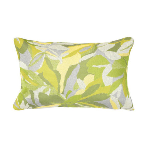 Dewey Green Lumbar Outdoor Accent Throw Pillow