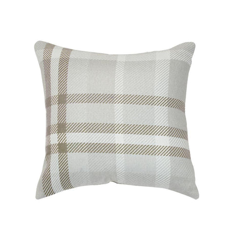Tartan Hemp Square Outdoor Accent Throw Pillow