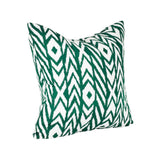 Square Outdoor Accent Lounge Throw Pillow - Green