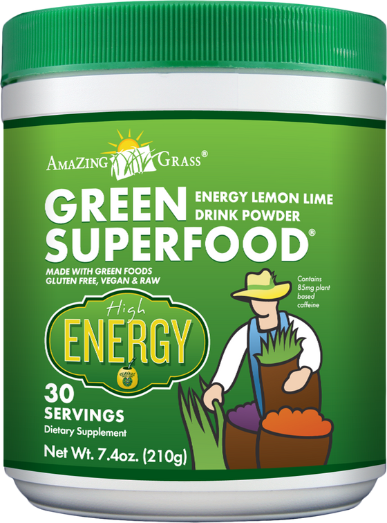 Amazing Grass Energy Lime Green SuperFood (30 servings) 210g