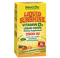 Natures Plus Liquid Sunshine Vitamin D3 Liquid Drops 10ml - 365 servings